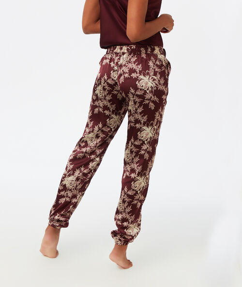 Pantalon satin imprimé