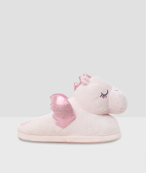 Chaussons dragons 3d rose.