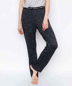 Pantalon chiné coupe slim noir.