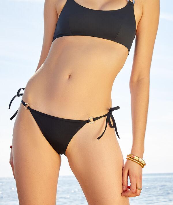Culotte bikini ficelle nouée maillot de bain;${refinementColor}