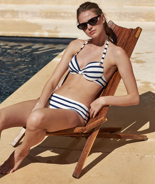 Bas de bikini shorty, rayé