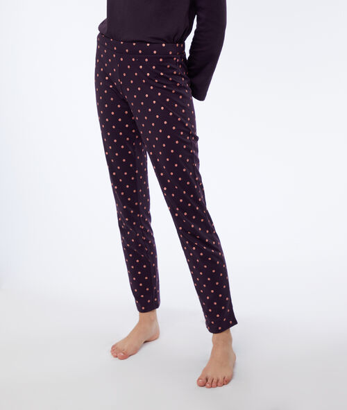 Pantalon à pois brillants