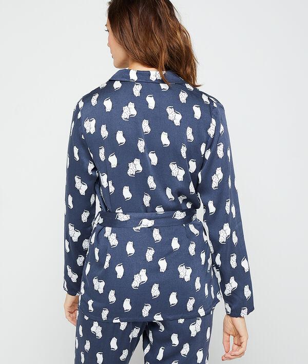 Chemise de pyjama imprimé chats