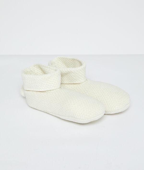 Bottines chaussettes à pompons;${refinementColor}