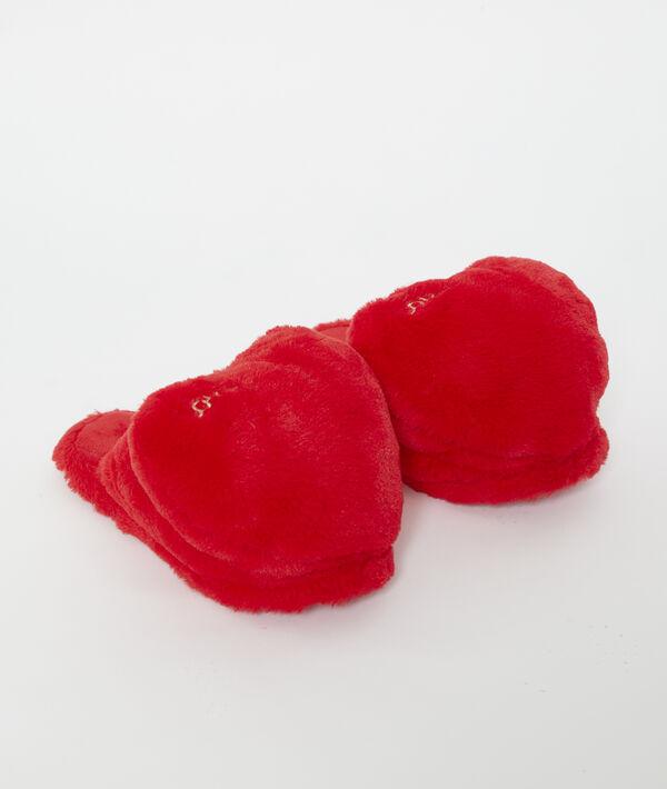 Chaussons doudou forme coeur