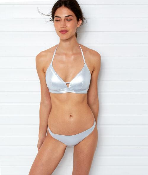 Bas de bikini simple irisé