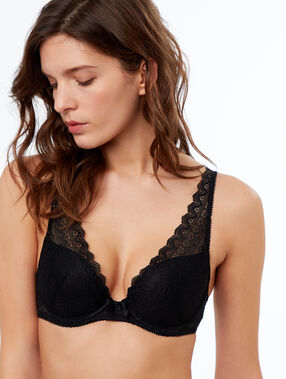 Soutien-gorge n°3 - triangle push-up, bonnets a/b/c noir.