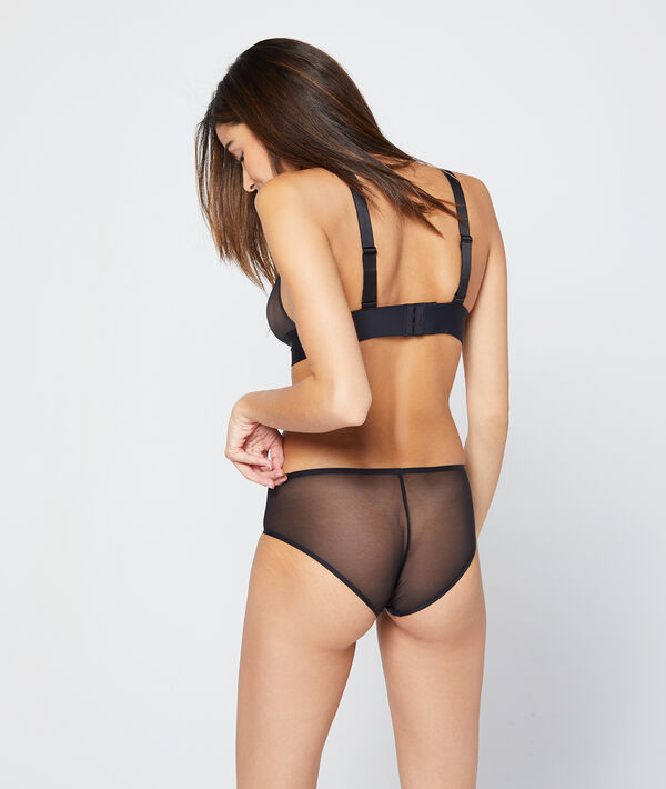Shorty en microfibre et mesh invisible;${refinementColor}