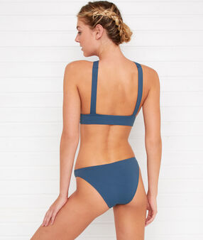 Bas de bikini simple bleu petrole.