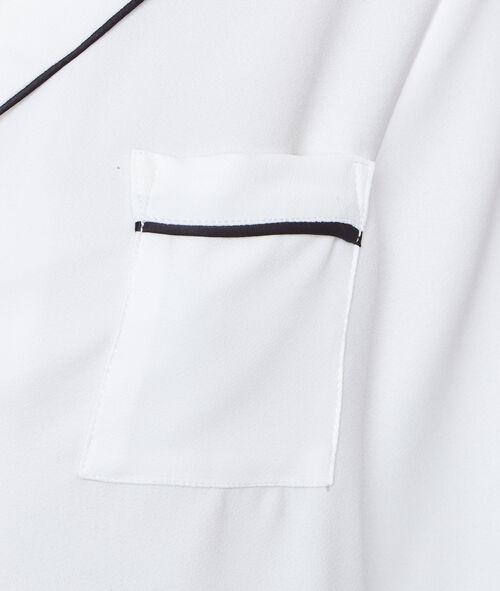 Chemise de pyjama contrastée