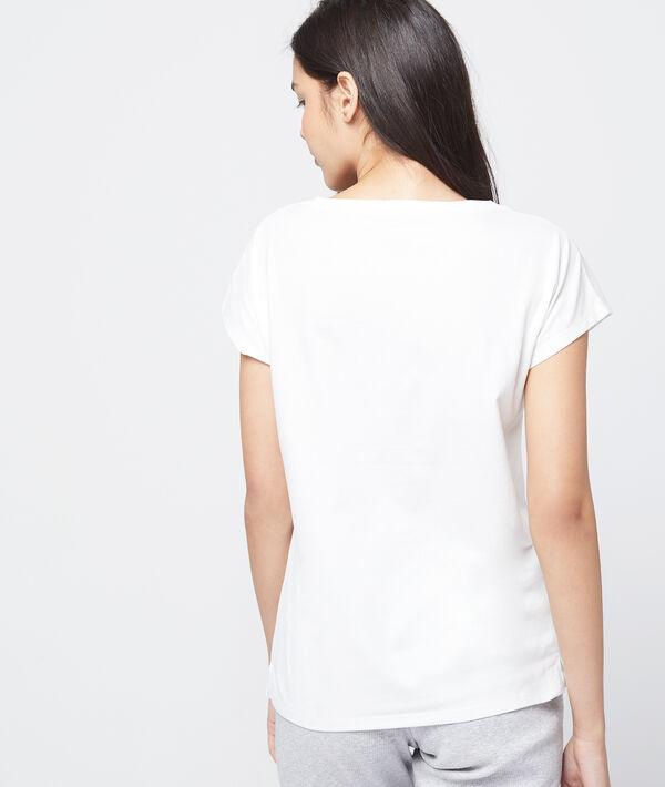 "T-shirt imprimé ""GREEN LOVER"" en coton bio"