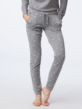 Pantalon à motifs chat anthracite.