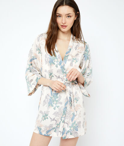 Kimono imprimé végétal;${refinementColor}
