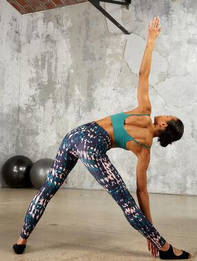Legging de yoga, taille mi-haute multicolore.