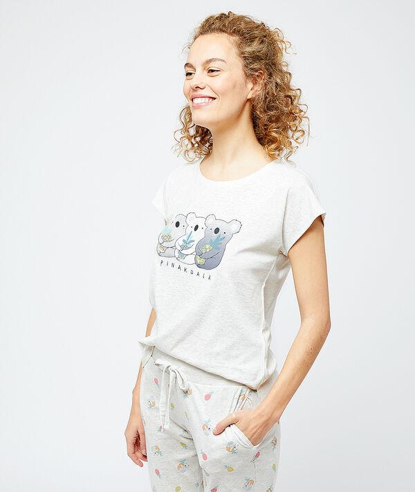 """T-shirt imprimé """"Pinakoala"""";${refinementColor}"""