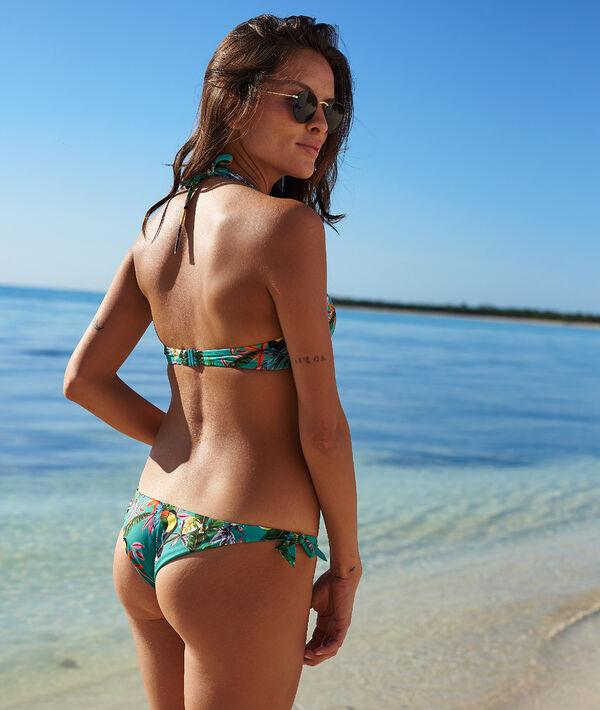 Bas de bikini brésilien, imprimé tropical