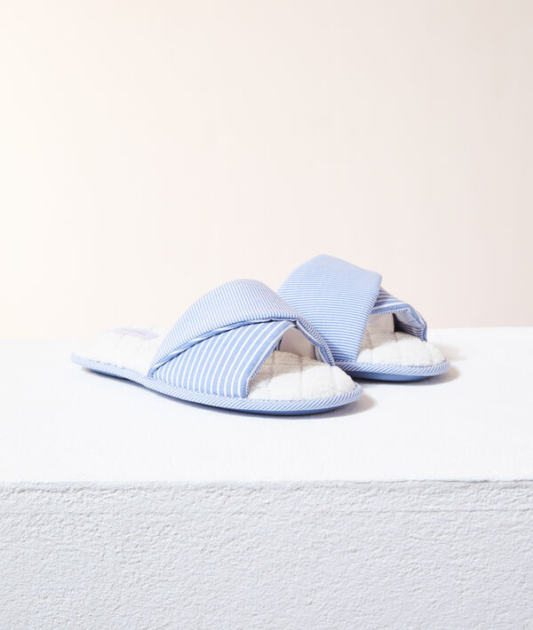 Chaussons tongs rayés;${refinementColor}