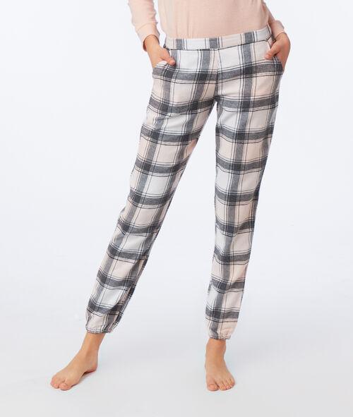 Pantalon à carreaux en coton