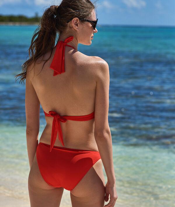 Bas de bikini simple, détails œillets