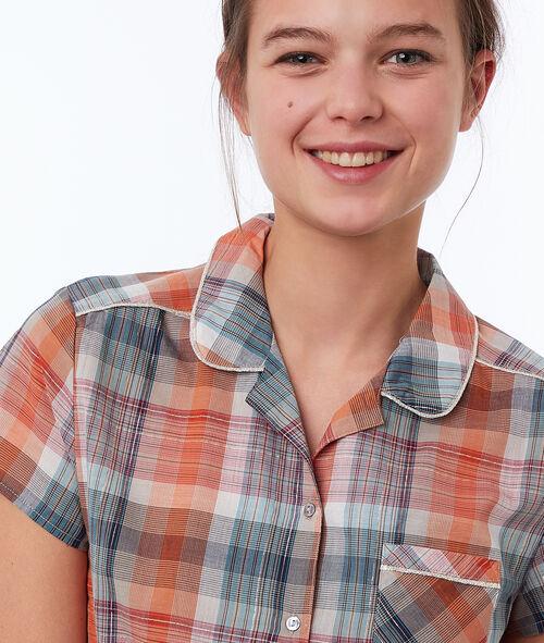 Chemise à carreaux à nouer