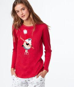 T-shirt imprimé rouge.