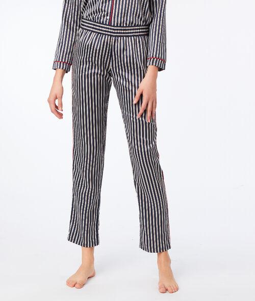 Pantalon de pyjama satiné à rayures