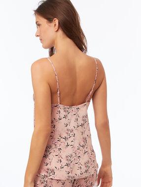 Caraco fleuri cache-coeur rose.