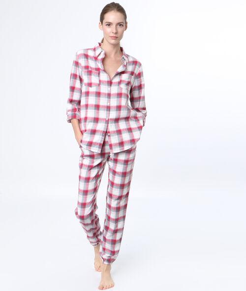 Chemise de pyjama à carreaux