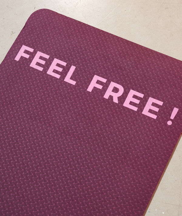 "Tapis de yoga ""Feel Free"";${refinementColor}"