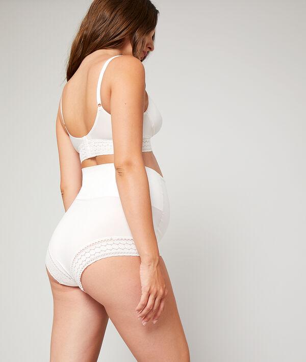 Culotte taille haute, ceinture rabattable