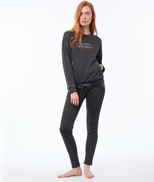 Pantalon homewear doublé ultra doux