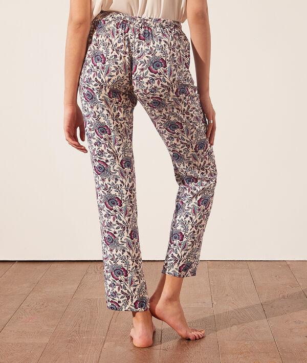 Pantalon de pyjama imprimé fleuri;${refinementColor}