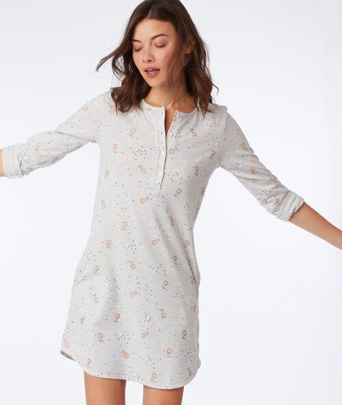 Chemise de nuit à motifs chat