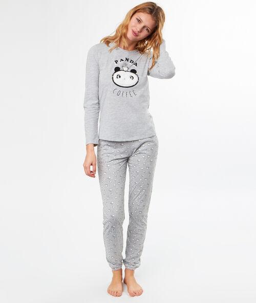 Pyjama 3 pièces à message