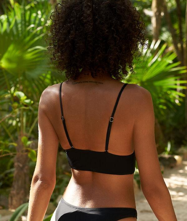 Haut de maillot de bain triangle, style corset