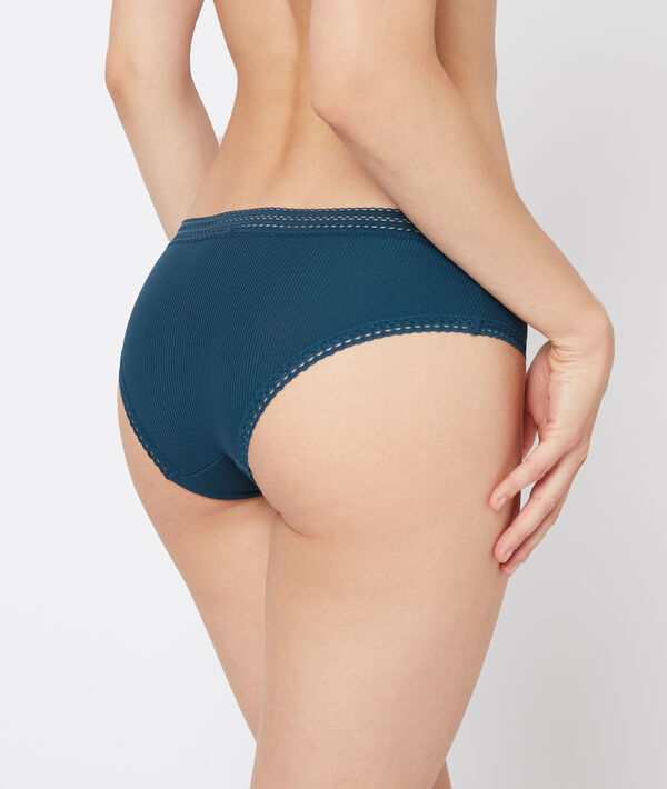 Shorty microfibre, bords dentelle