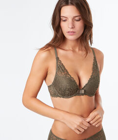 Soutien-gorge n°3 - triangle push up vert nil.