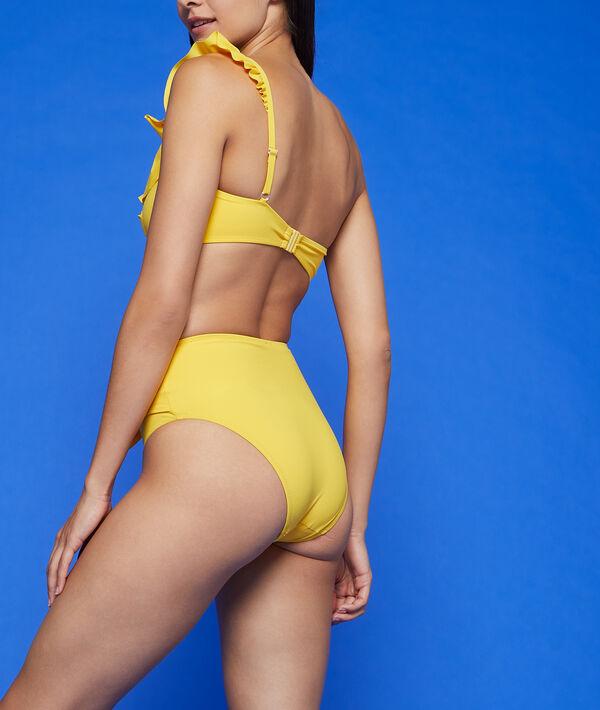 Bas de bikini taille haute à noeud