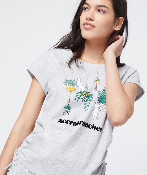 "T-shirt imprimé ""Accrobranches"" en coton bio"