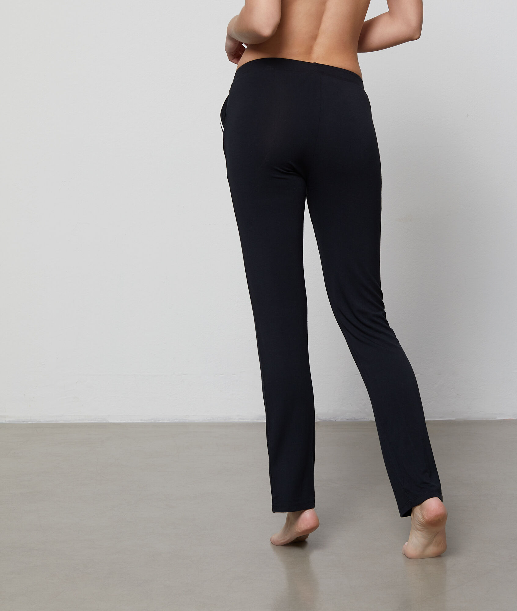 Pantalon fluide bicolore - WAELLE - NOIR - Etam d74568983bf