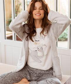 Pyjama 3 pièces gris.
