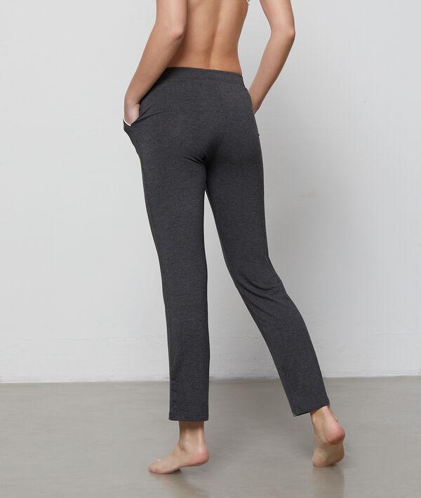 Pantalon fluide bicolore