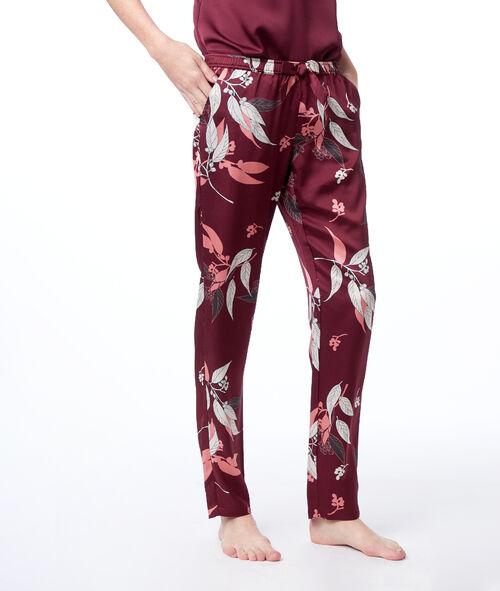 Pantalon imprimé satin