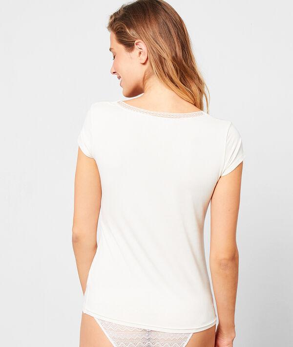 T-shirt à manches courtes col v