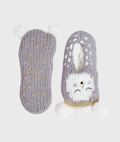 Chaussettes tricot doublées et antidérapantes
