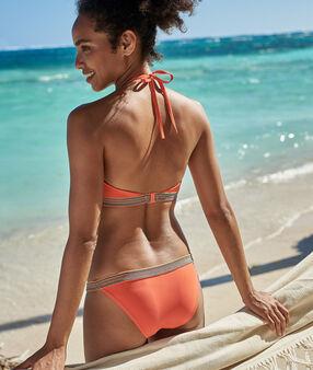 Culotte de maillot de bain bande fantaisie corail.