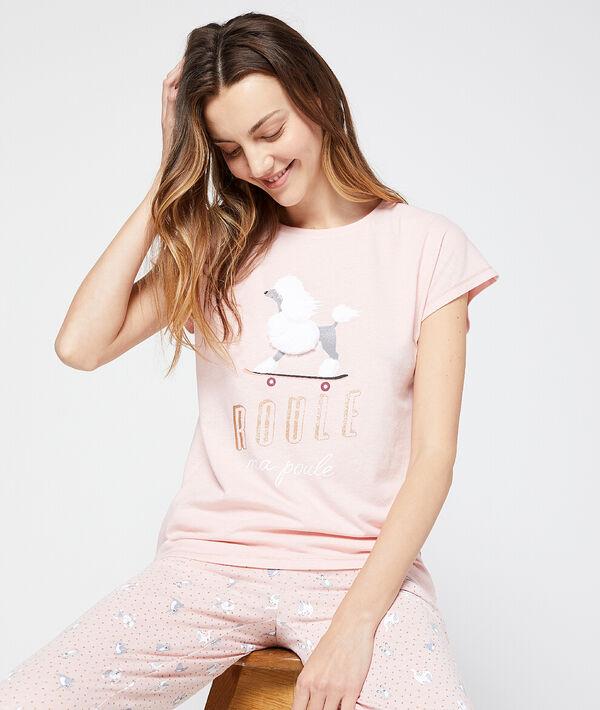 """T-shirt message """"Roule ma poule"""";${refinementColor}"""