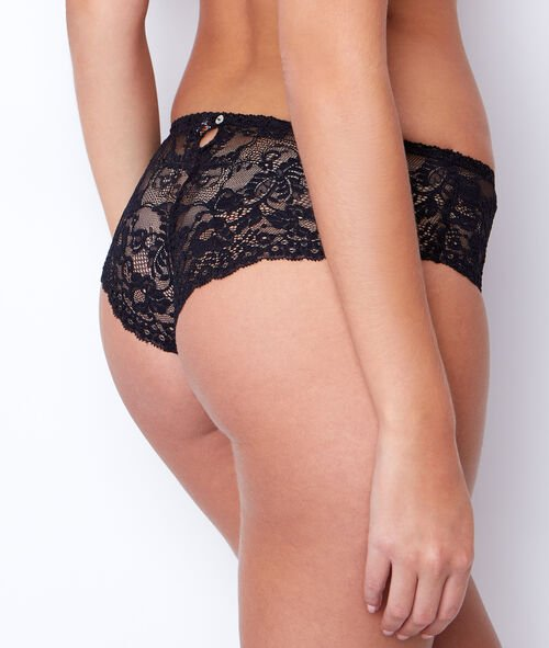 Shorty dentelle florale