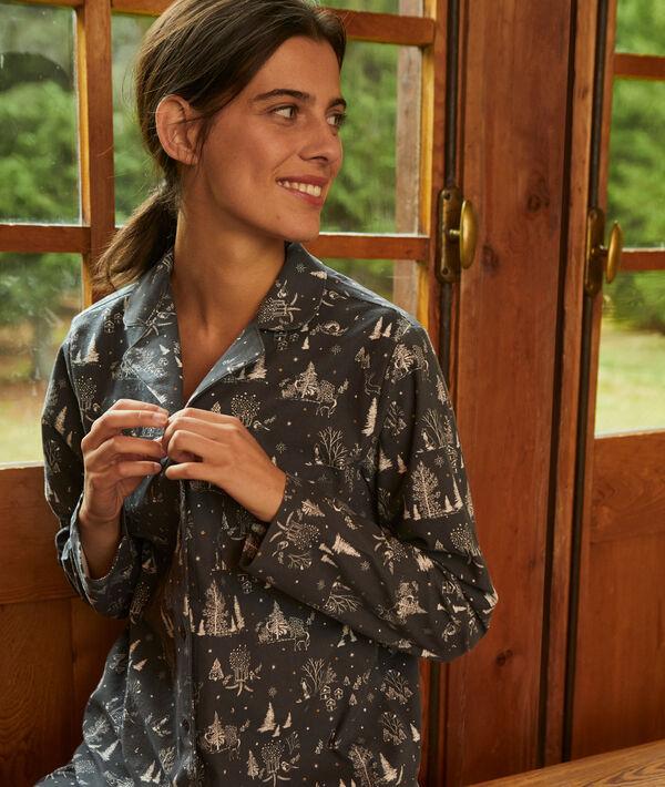 Chemise de pyjama imprimée - WEENDEL - S - Gris - Femme - Etam