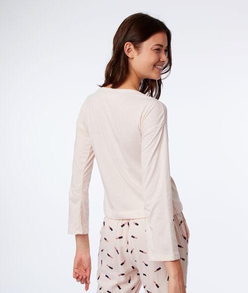T-shirt noué à manches longues